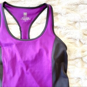 AERIE FIT Purple & Gray Tank Top Small